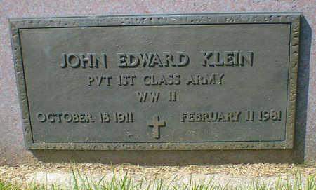 KLEIN, JOHN EDWARD - Cerro Gordo County, Iowa | JOHN EDWARD KLEIN