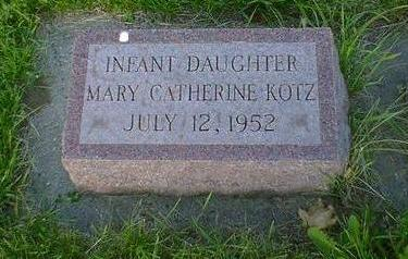 KOTZ, MARY CATHERINE - Cerro Gordo County, Iowa | MARY CATHERINE KOTZ