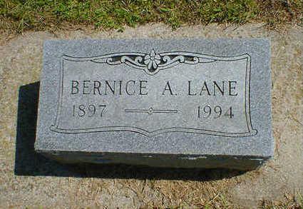 LANE, BERNICE A. (DUTRO) - Cerro Gordo County, Iowa | BERNICE A. (DUTRO) LANE