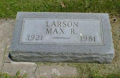 LARSON, MAX R. - Cerro Gordo County, Iowa | MAX R. LARSON