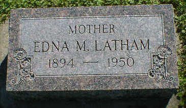 LATHAM, EDNA M. - Cerro Gordo County, Iowa | EDNA M. LATHAM