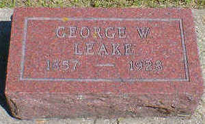 LEAKE, GEORGE W. - Cerro Gordo County, Iowa | GEORGE W. LEAKE