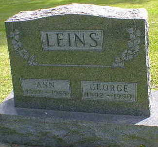 LEINS, GEORGE - Cerro Gordo County, Iowa | GEORGE LEINS