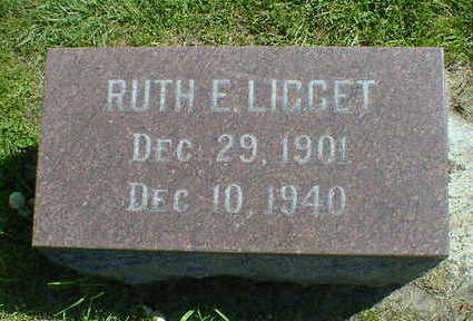 LIGGET, RUTH E. - Cerro Gordo County, Iowa | RUTH E. LIGGET
