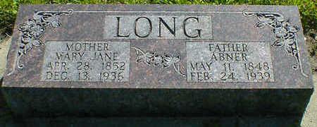 LONG, ABNER - Cerro Gordo County, Iowa | ABNER LONG