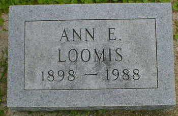 LOOMIS, ANN E. - Cerro Gordo County, Iowa | ANN E. LOOMIS