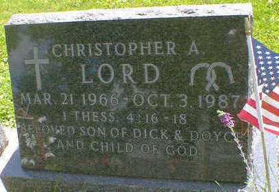 LORD, CHRISTOPHER A. - Cerro Gordo County, Iowa | CHRISTOPHER A. LORD