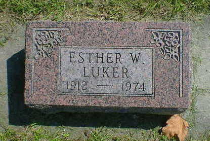 LUKER, ESTHER W. - Cerro Gordo County, Iowa | ESTHER W. LUKER