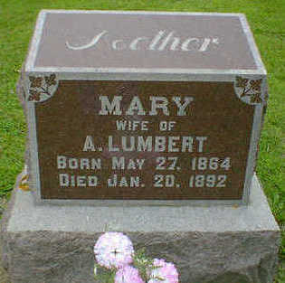 LUMBERT, MARY - Cerro Gordo County, Iowa | MARY LUMBERT