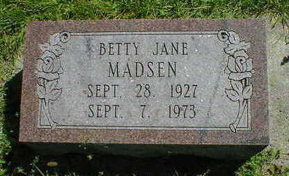 MADSEN, BETTY JANE - Cerro Gordo County, Iowa | BETTY JANE MADSEN