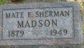 SHERMAN MADSON, MATE E. - Cerro Gordo County, Iowa | MATE E. SHERMAN MADSON