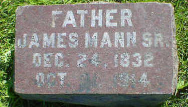 MANN, JAMES SR. - Cerro Gordo County, Iowa | JAMES SR. MANN