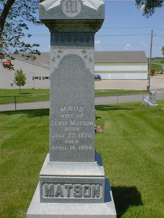 MATSON, MAUD - Cerro Gordo County, Iowa | MAUD MATSON