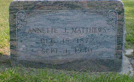 MATTHEWS, ANNETTE J. - Cerro Gordo County, Iowa | ANNETTE J. MATTHEWS