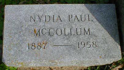 PAUL MCCOLLUM, NYDIA - Cerro Gordo County, Iowa | NYDIA PAUL MCCOLLUM