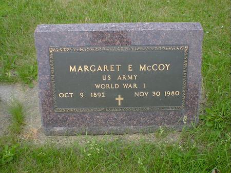 MCCOY, MARGARET E. - Cerro Gordo County, Iowa   MARGARET E. MCCOY
