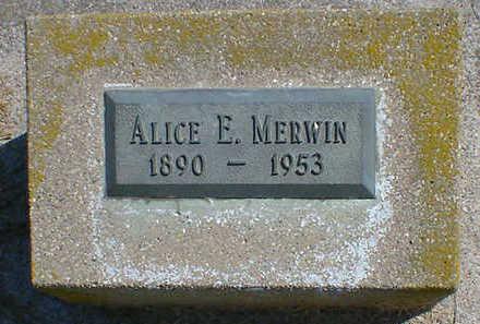 MERWIN, ALICE E. - Cerro Gordo County, Iowa | ALICE E. MERWIN