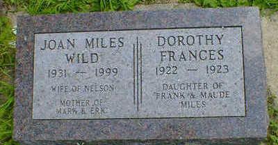 MILES, DOROTHY FRANCES - Cerro Gordo County, Iowa | DOROTHY FRANCES MILES