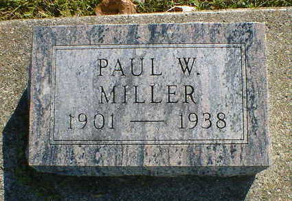 MILLER, PAUL W. - Cerro Gordo County, Iowa | PAUL W. MILLER