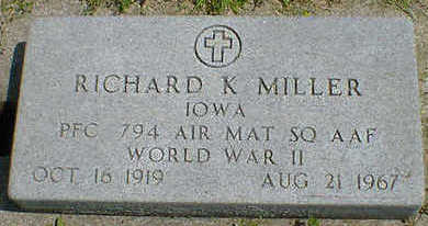 MILLER, RICHARD K. - Cerro Gordo County, Iowa | RICHARD K. MILLER