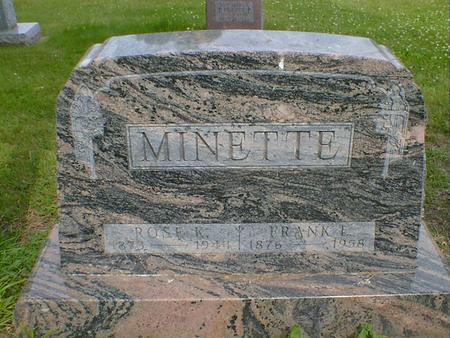 MINETTE, ROSE K. - Cerro Gordo County, Iowa | ROSE K. MINETTE