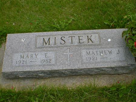 MISTEK, MARY E. - Cerro Gordo County, Iowa | MARY E. MISTEK