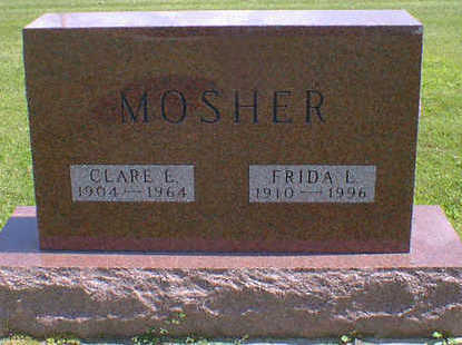 MOSHER, CLARE E. - Cerro Gordo County, Iowa | CLARE E. MOSHER