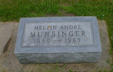 MUNSINGER, MELVIN ANDRE - Cerro Gordo County, Iowa | MELVIN ANDRE MUNSINGER
