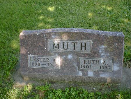 MUTH, LESTER A - Cerro Gordo County, Iowa | LESTER A MUTH