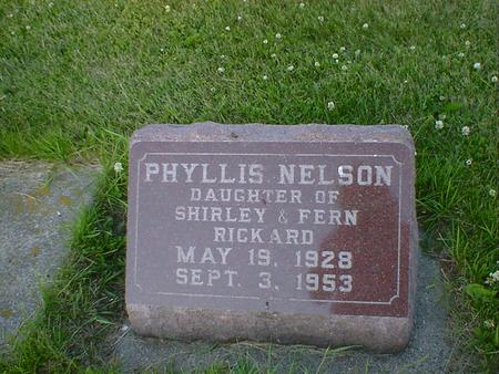 RICKARD NELSON, PHYLLIS - Cerro Gordo County, Iowa | PHYLLIS RICKARD NELSON