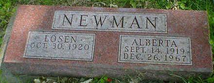 NEWMAN, ALBERTA - Cerro Gordo County, Iowa | ALBERTA NEWMAN