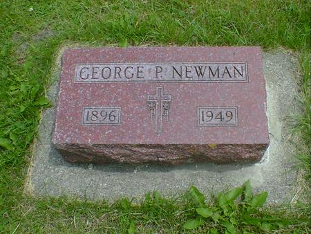 NEWMAN, GEORGE P. - Cerro Gordo County, Iowa | GEORGE P. NEWMAN