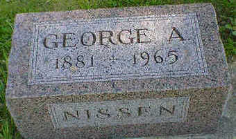 NISSEN, GEORGE A. - Cerro Gordo County, Iowa | GEORGE A. NISSEN