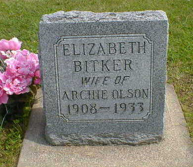 BITKER OLSON, ELIZABETH - Cerro Gordo County, Iowa | ELIZABETH BITKER OLSON
