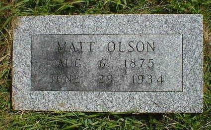 OLSON, MATT - Cerro Gordo County, Iowa   MATT OLSON