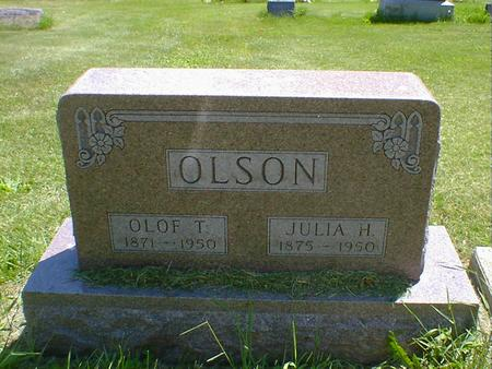 OLSON, JULIA H. - Cerro Gordo County, Iowa | JULIA H. OLSON
