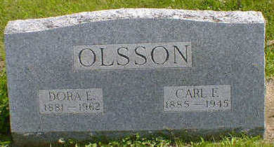 OLSSON, DORA E. - Cerro Gordo County, Iowa | DORA E. OLSSON