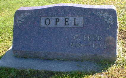 OPEL, G. FRED - Cerro Gordo County, Iowa | G. FRED OPEL