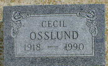 OSSLUND, CECIL - Cerro Gordo County, Iowa   CECIL OSSLUND