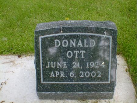 OTT, DONALD - Cerro Gordo County, Iowa   DONALD OTT