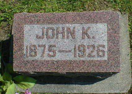 OVERGAARD, JOHN K. - Cerro Gordo County, Iowa | JOHN K. OVERGAARD