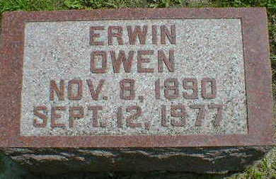 OWEN,  ERWIN - Cerro Gordo County, Iowa |  ERWIN OWEN