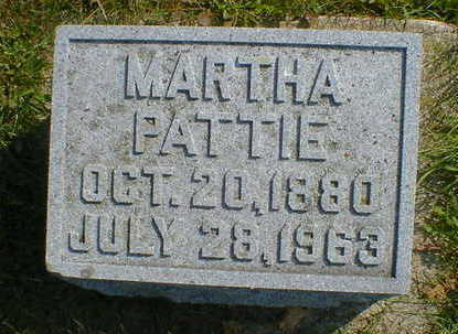 PATTIE, MARTHA - Cerro Gordo County, Iowa | MARTHA PATTIE