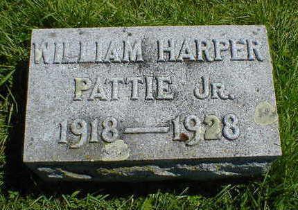 PATTIE, WILLIAM HARPER JR. - Cerro Gordo County, Iowa | WILLIAM HARPER JR. PATTIE