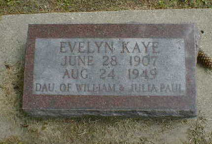 PAUL, EVELYN KAYE - Cerro Gordo County, Iowa | EVELYN KAYE PAUL