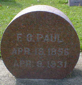 PAUL, F. G. - Cerro Gordo County, Iowa | F. G. PAUL
