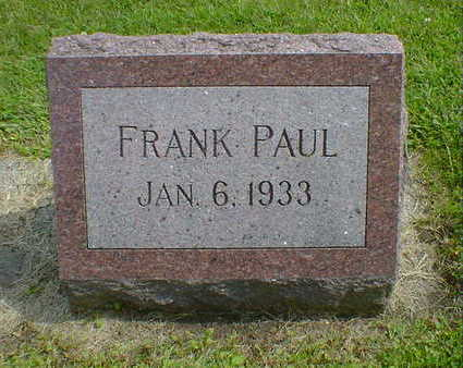 PAUL, FRANK - Cerro Gordo County, Iowa | FRANK PAUL