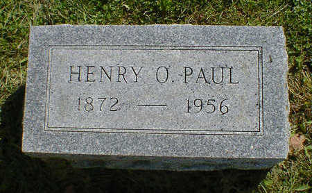 PAUL, HENRY O. - Cerro Gordo County, Iowa | HENRY O. PAUL