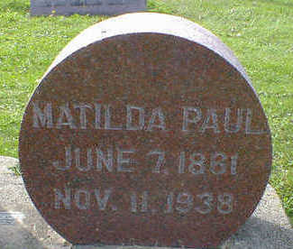 PAUL, MATILDA - Cerro Gordo County, Iowa | MATILDA PAUL