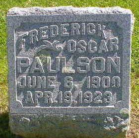 PAULSON, FREDERICK OSCAR - Cerro Gordo County, Iowa | FREDERICK OSCAR PAULSON